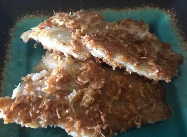 Parmesan Crusted Fresh Water Bass Recipe