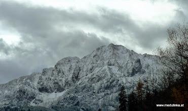 Photo: überall ziemlich viel schnee auf den bergen