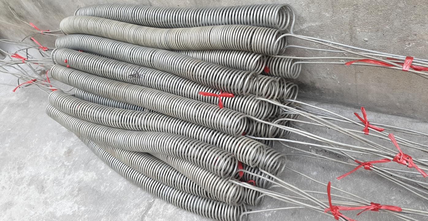 Dây gia nhiệt điện trở dây phi 6 lò xo, phi 70 dài 900 điện áp 380v hàng có sẵn