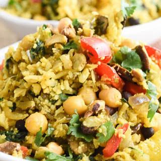 Turmeric Cauliflower Pilaf Vegetable Bowl [Vegan]
