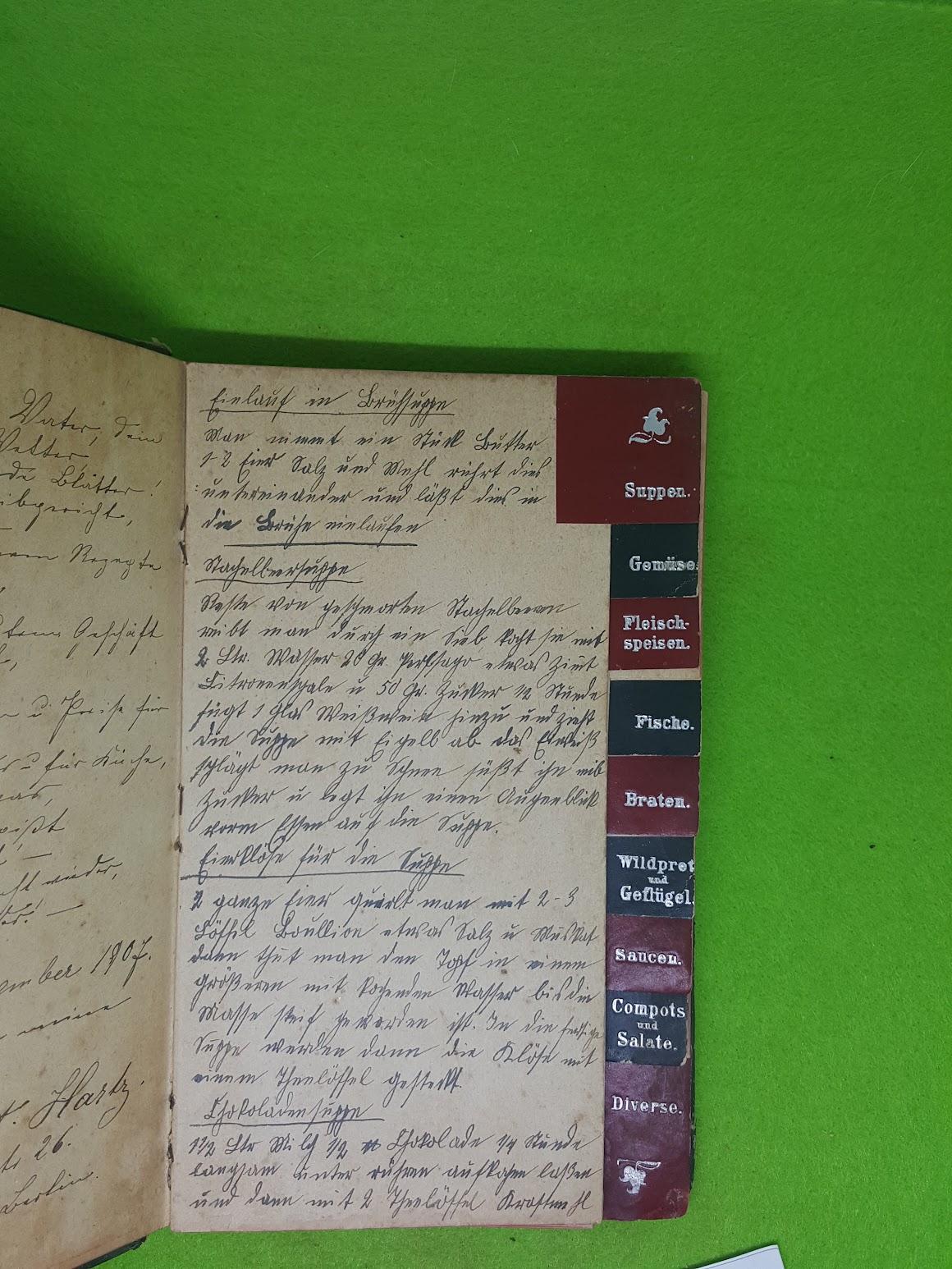 Rezeptbuch von 1907 - Suppen