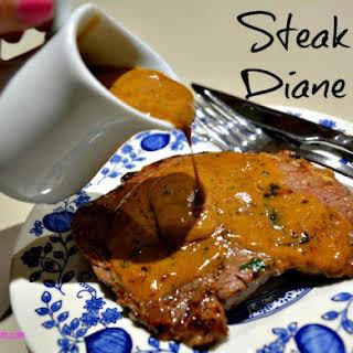 Garlic Steak Diane.