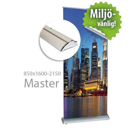 Roll up, Master 850x2000mm, inkl printad bildvåd