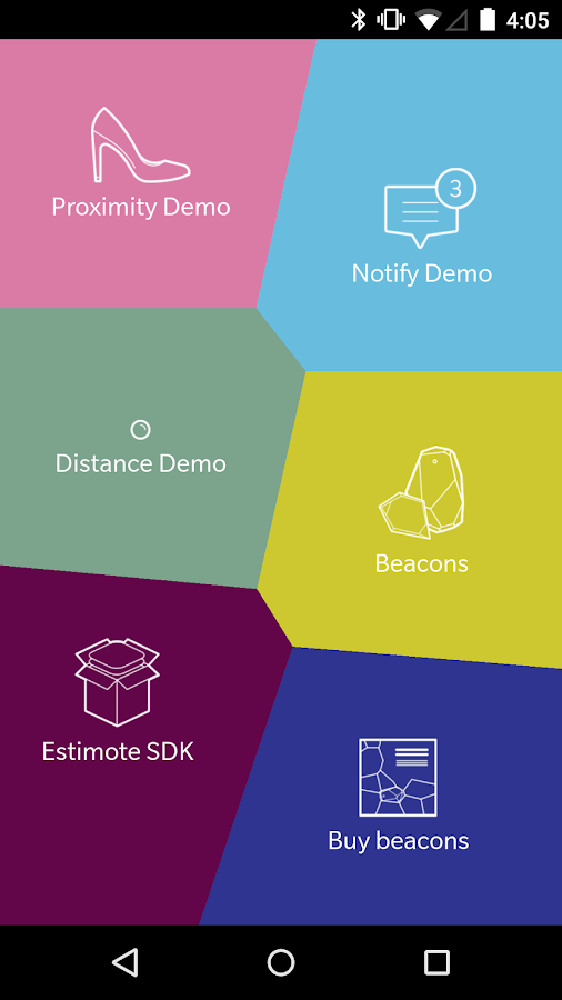 Estimote- screenshot
