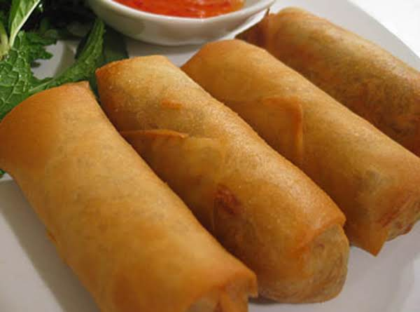Yummy Pork Egg Rolls, You May Use Chicken Or Shrimp In Place Of Pork Sausage.