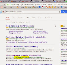 "Photo: Google 1st for ""hotel marketing australia"""