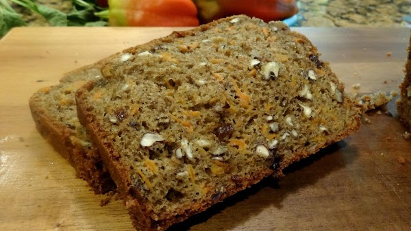 Preheat the oven to 350 degrees.  Grease a 9X5 loaf pan with grapeseed...