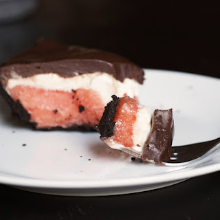 Sorbet & Ice Cream Pie with Chocolate Ganache Recipe