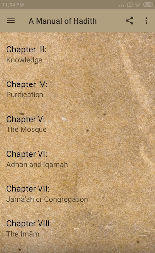 A MANUAL OF HADITH IN ENGLISH App Report on Mobile Action