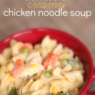 Slow Cooker Creamy Chicken Noodle Soup and KitchenAid Review.