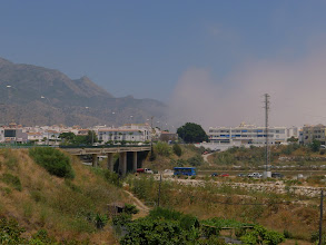 Photo: Sea mist approaching to the north of Nerja