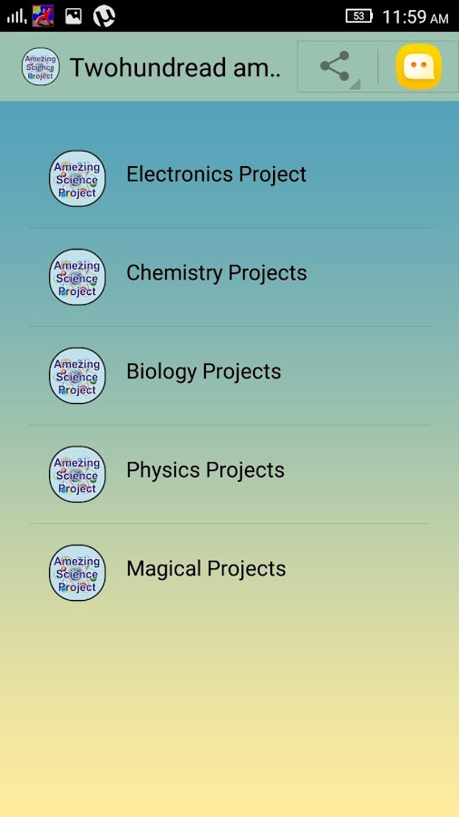 amazing science project android apps on google play 200 amazing science project screenshot
