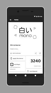 Shiroimono icon pack Apk v3 Android 1