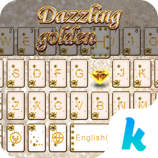 Dazzling Golden Kika Keyboard 個人化 App LOGO-硬是要APP
