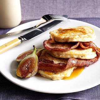 Oat Pancakes with Bacon and Figs