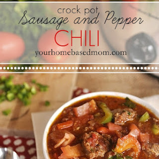 Sausage and Pepper Crock Pot Chili.