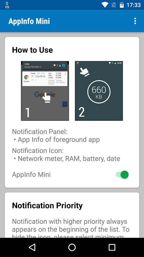 AppInfo Mini- screenshot