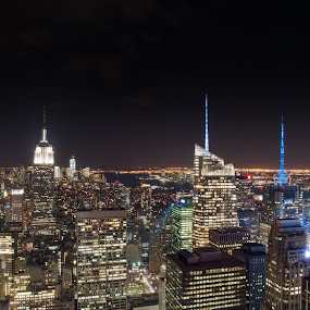 Manhattan Lights by Brad Kalpin - City,  Street & Park  Vistas ( empire state buildind, manhattan, nyc, new york, ny )
