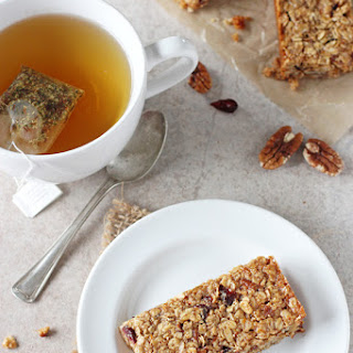 Chewy Cranberry Orange Granola Bars