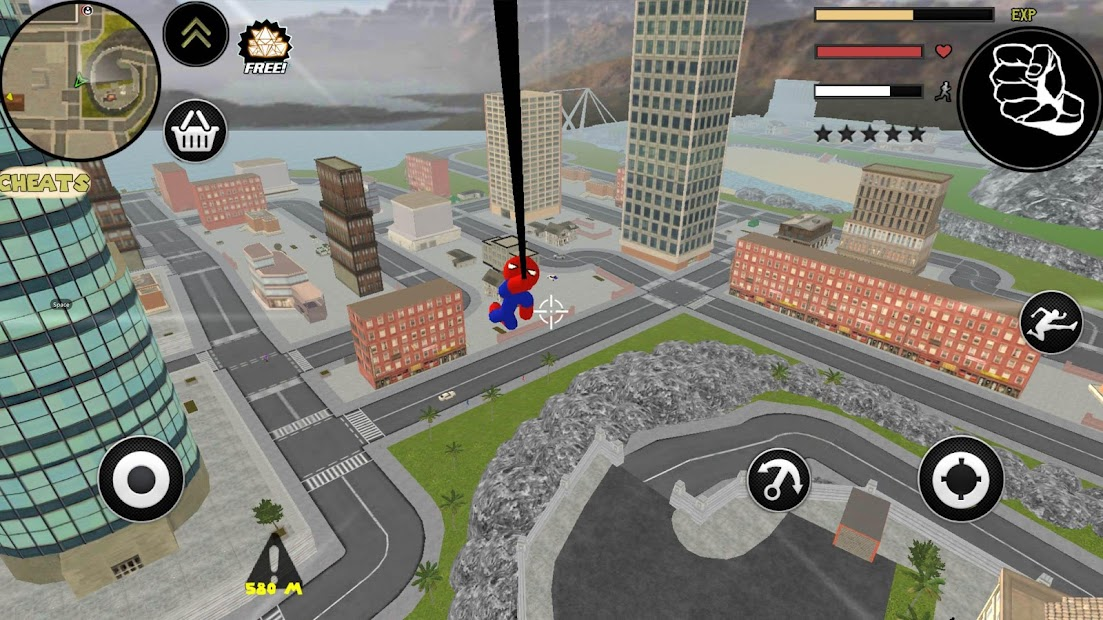 Spider Stickman Rope Hero Gangstar Crime screenshot 1