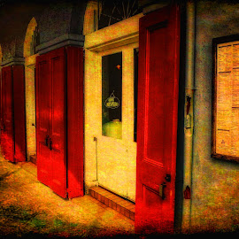 Shuttered Doors. by Dave Walters - Digital Art Places ( doors, shutters, french quarter, canon reel, colors )