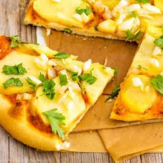Homemade Vegan Potato Pizza.