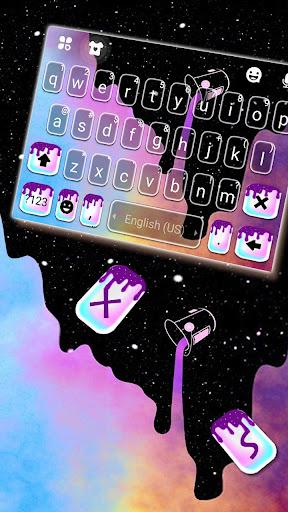 Galaxy Color Drip Keyboard Theme screenshots 2