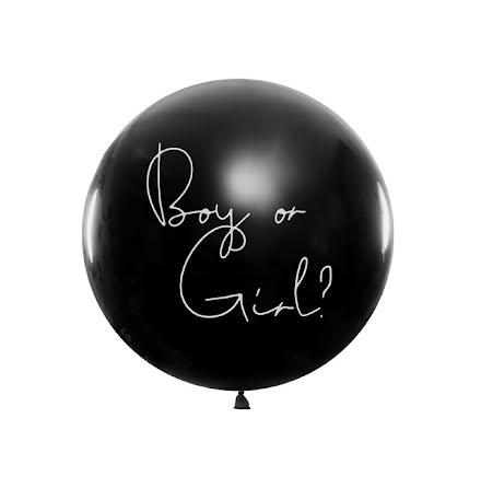 Jätteballong med konfetti - Boy or Girl