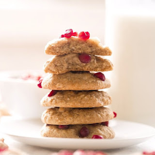 Honey Oatmeal Pomegranate Cookies.