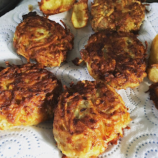 December Potato and Onion Latkes