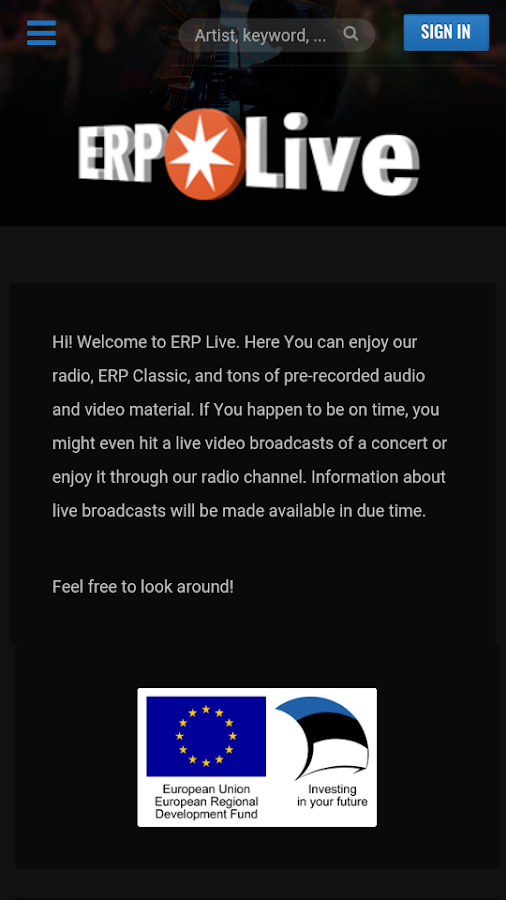 ERP Live- screenshot