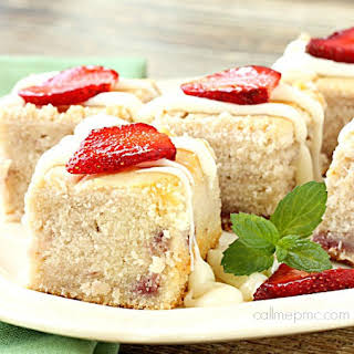 Fresh Strawberry Yogurt Cake.