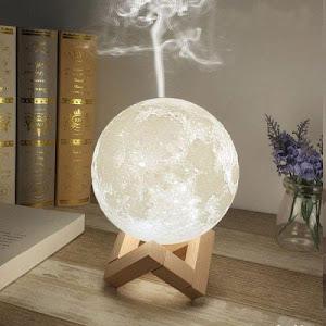 Lampa de veghe cu umidificator, Luna DEKA Moon 3D, 880 ml