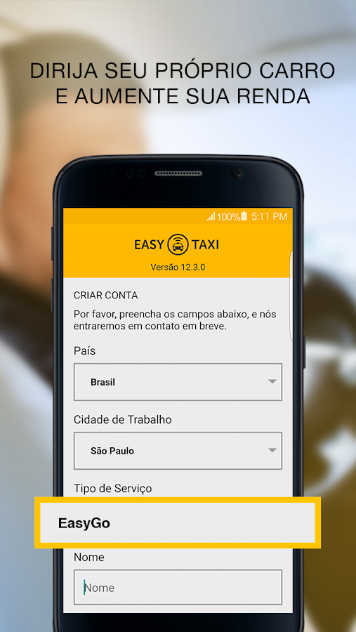 Easy - Taxistas e Motoristas: captura de tela
