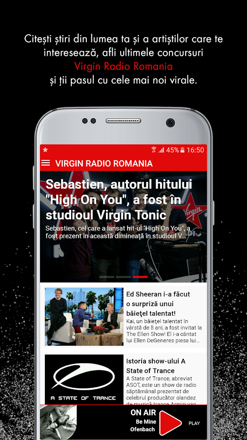 Virgin Radio Romania- screenshot