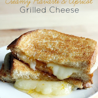 Creamy Havarti and Apricot Grilled Cheese.