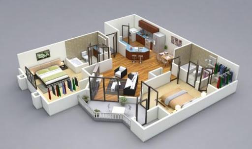 3D house plan designs 1.4 screenshots 1