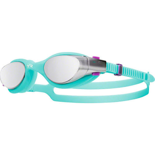 TYR Vesi Mirrored Femme Goggle: Silver Lens/Mint Frame/Mint Gasket