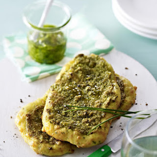 Parmesan and Pistachio Flatbreads