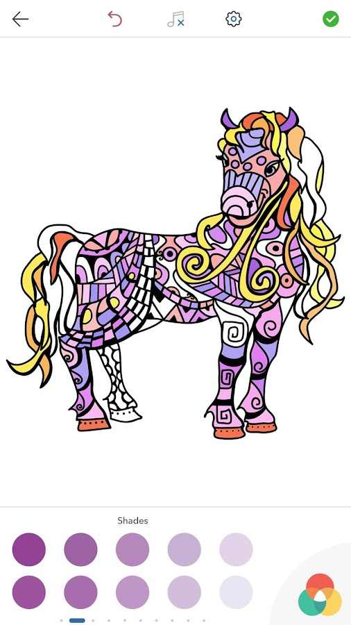 Horse Coloring Book for Adults- screenshot