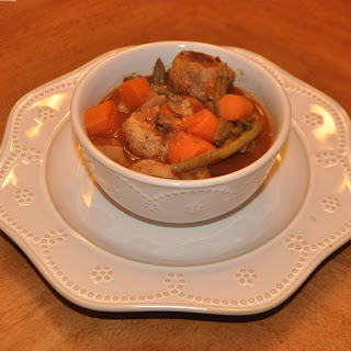 Crockpot Turkey Meatball Stew