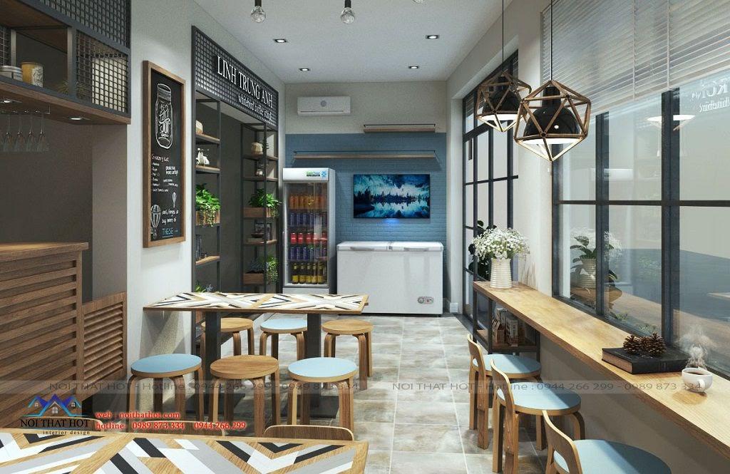 thiết kế quán cafe diện tích nhỏ Linh Trung Anh