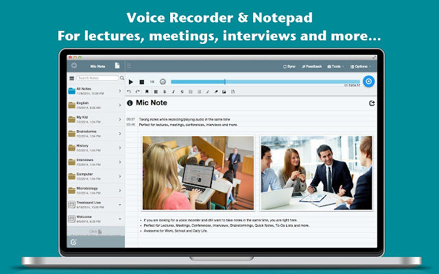 Mic Note -Voice Recorder & Notepad
