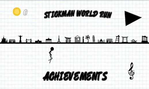 Stickman World Run - náhled