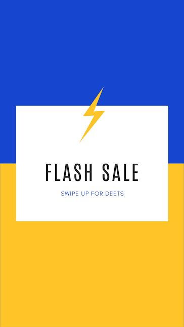 Flash Sale Details - Facebook Story Template