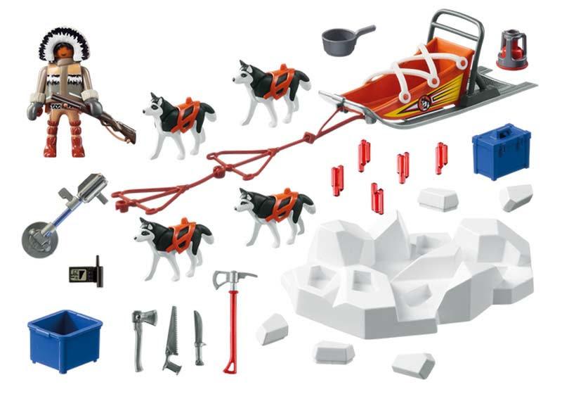 Contenido real de Playmobil® 9057 Trineo de Huskys
