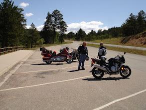 Photo: Met another biker on the road.