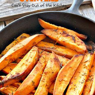 SPICY SWEET POTATO OVEN FRIES Recipe