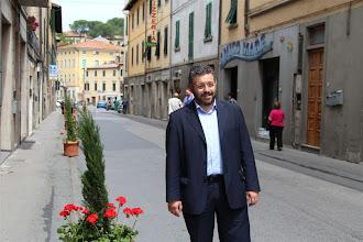 Photo: Il Sindaco di Certaldo Andrea Campinoti in Borgo Garibaldi (Certaldo)