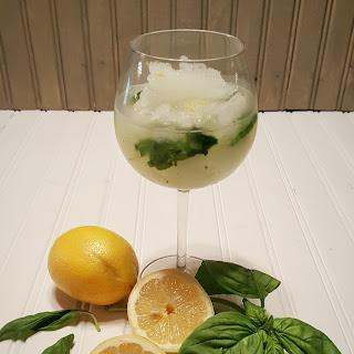 Frozen Sake Basil Lemonade